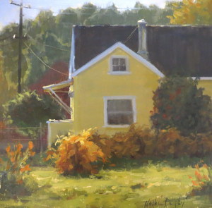 """Indian Summer,"" by Kathleen Dunphy, oil, 12 x 12 in."