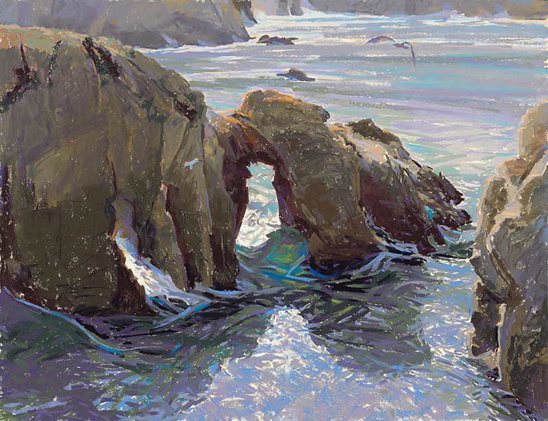 """The Arch at Point Lobos,"" by W. Truman Hosner, pastel, 20 x 26 in."