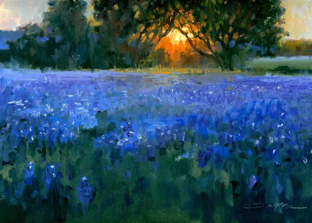 """""""Everything's Better With Bluebonnet on It,"""" by Randy Saffle, oil, 9 x 12 in."""