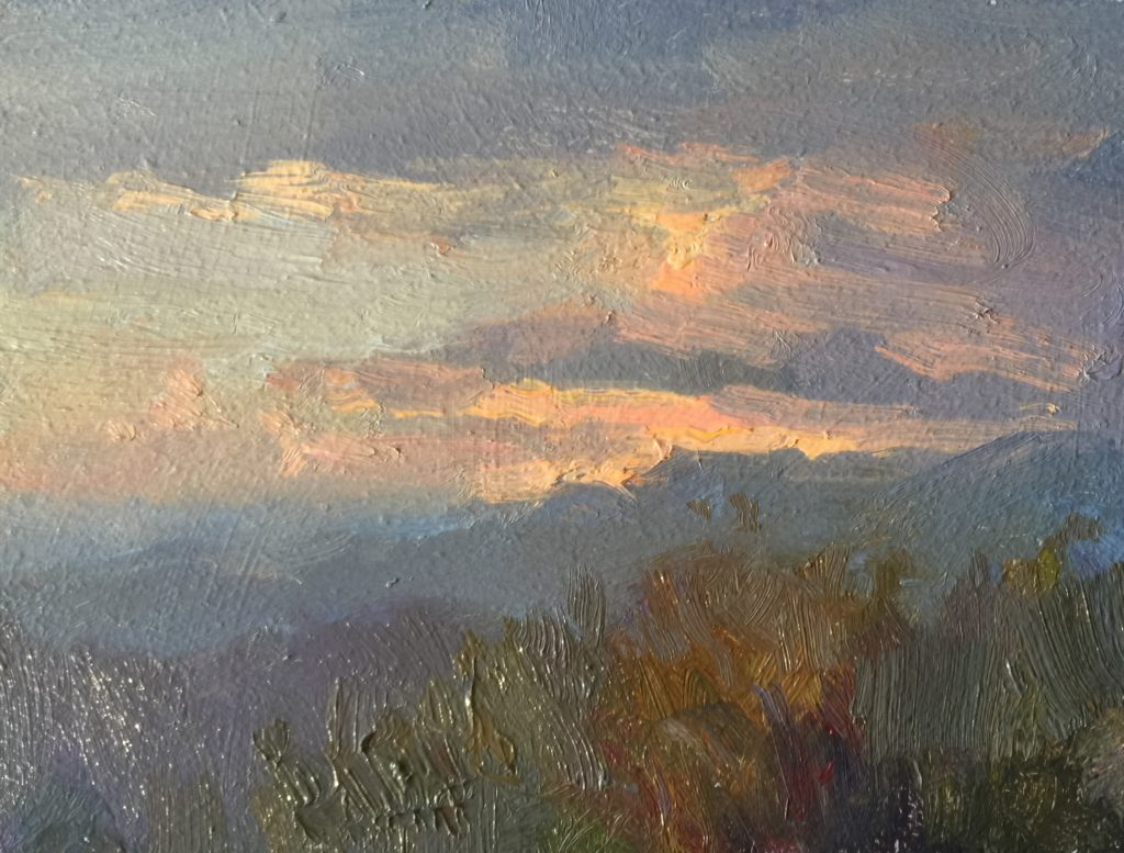 """""""Italy, Pianello,"""" by Barry John Raybould, oil, 6 x 8 in."""