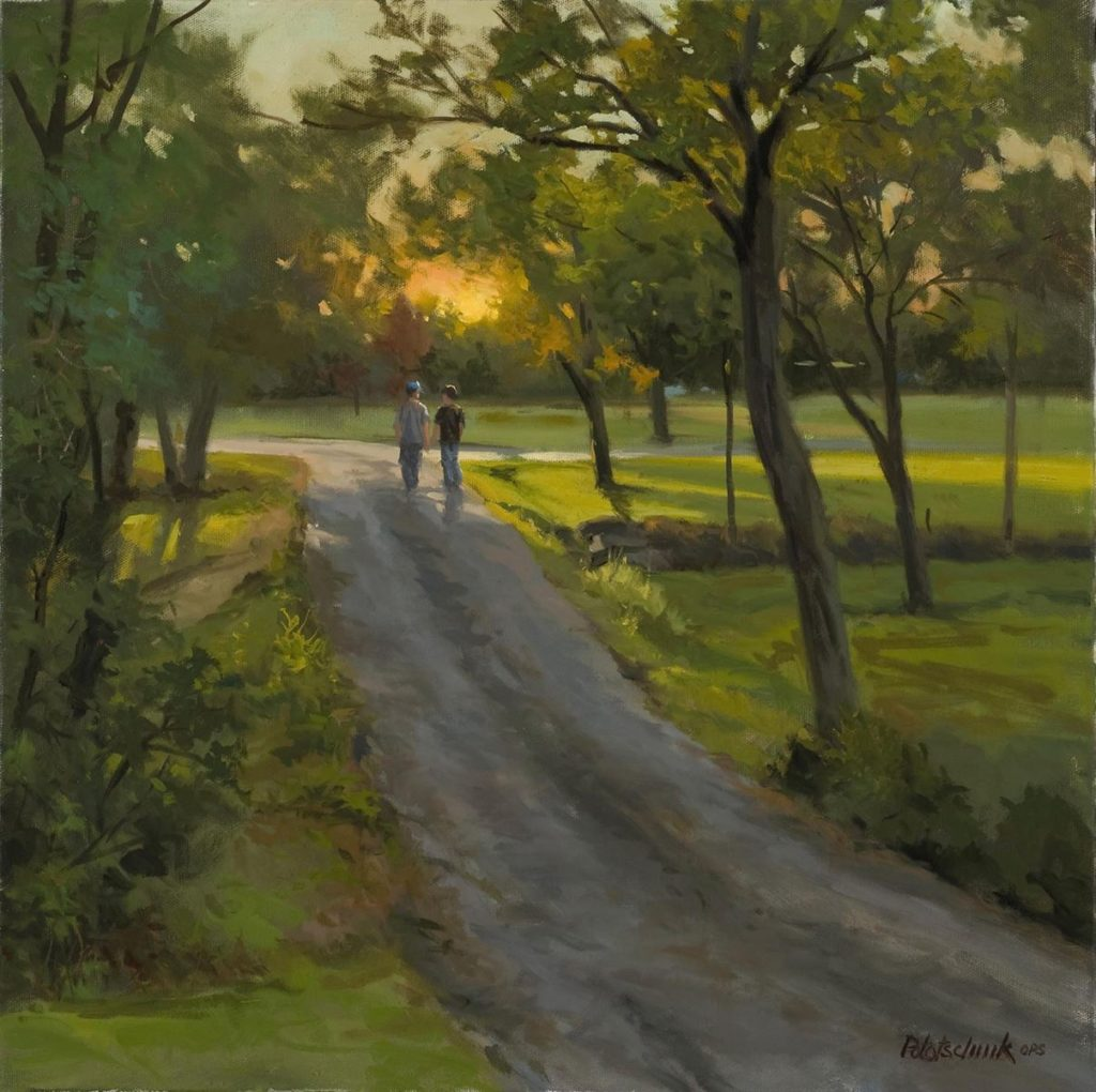 """""""7:31 p.m.,"""" by John Pototschnik. Award of Excellence from OutdoorPainter.com"""