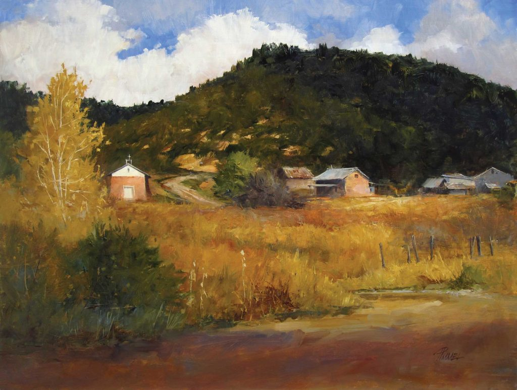 Oil landscape by Peggy Immel