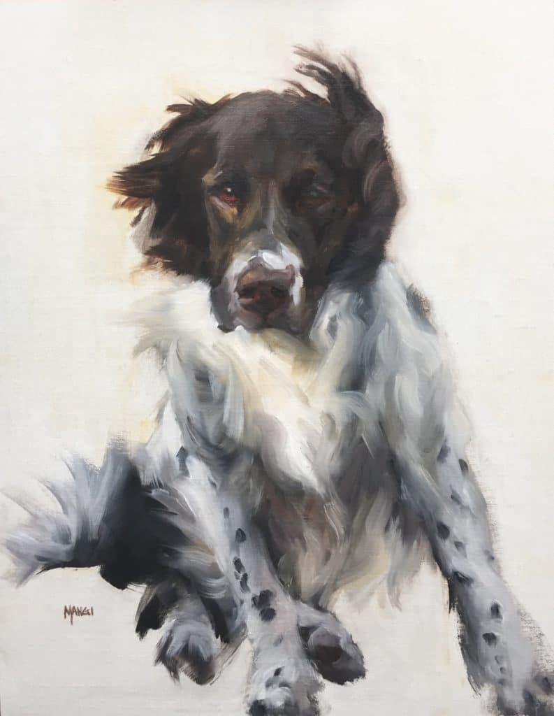 how to paint dogs - Johanne Mangi - Windblown Charlie