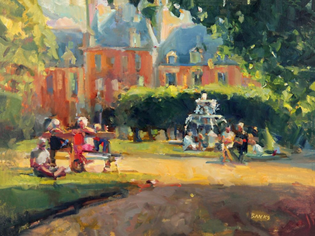 Plein air painting in Paris