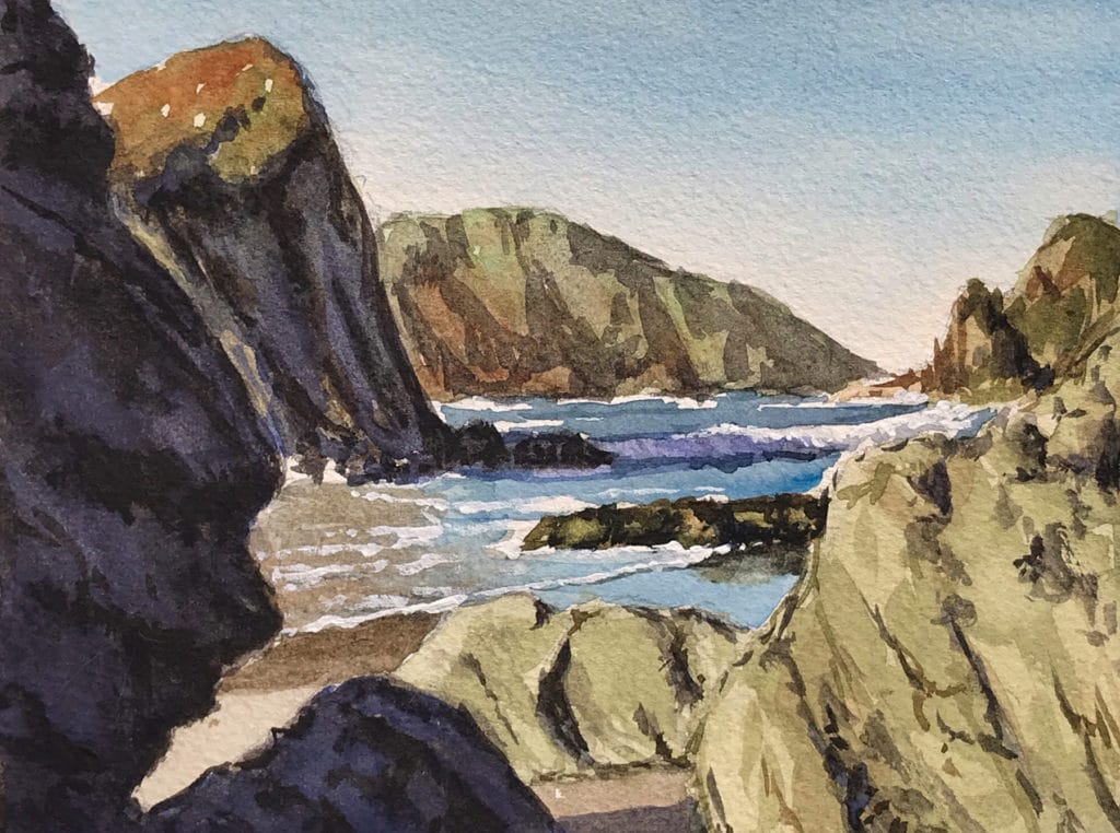 Getting Rock Right in a Landscape Painting - OutdoorPainter.com