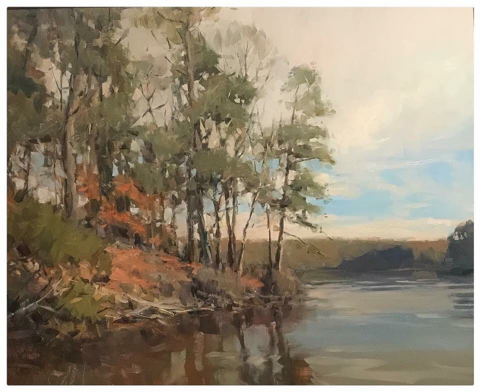"""James Richards, """"The Water's Edge,"""" 2017, oil, 8 x 10 in. Collection the artist, Plein air"""