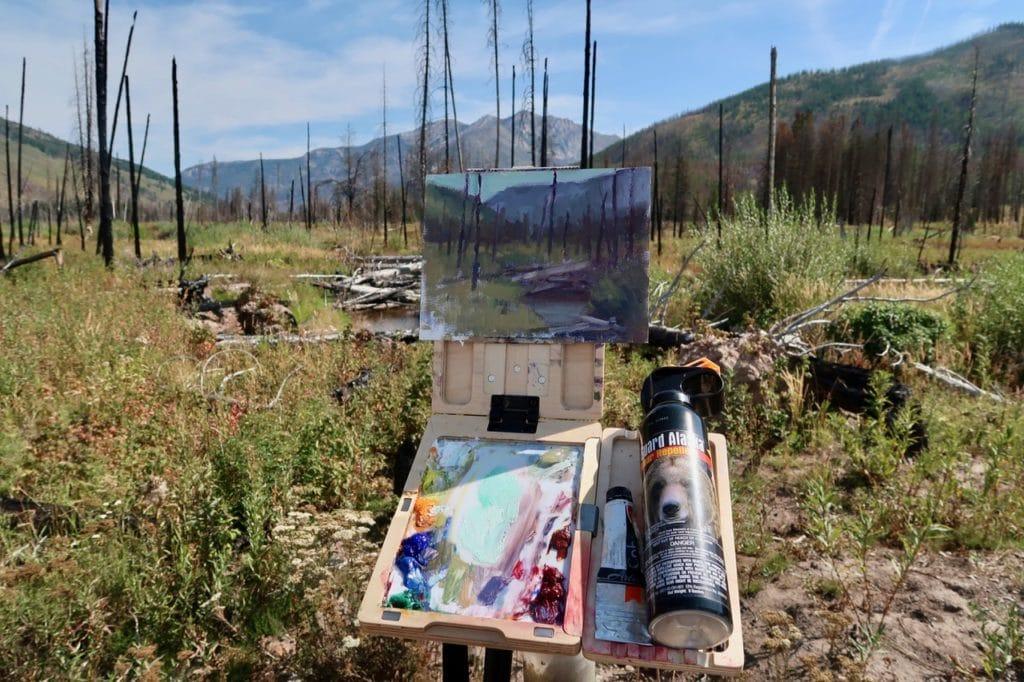 Painting outdoors set up - Lori McNee