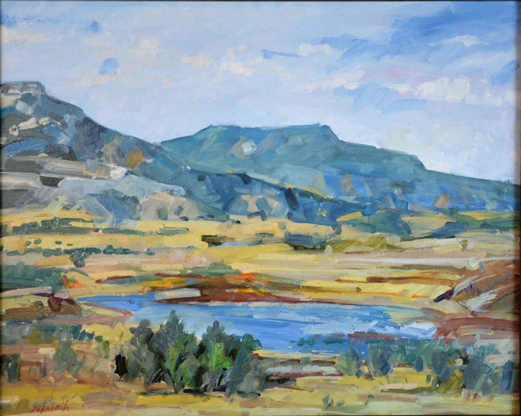 "Richard Szkutnik, ""Abiquiu Reservoir,"" 16 x 20 in., $1450"