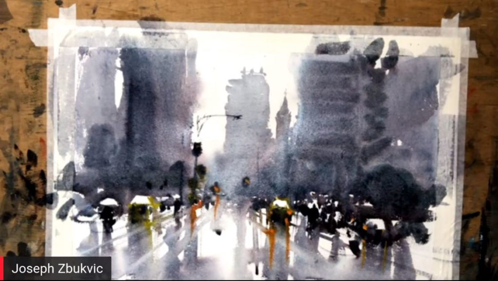 Watercolor painting how-to - Joseph Zbukvic
