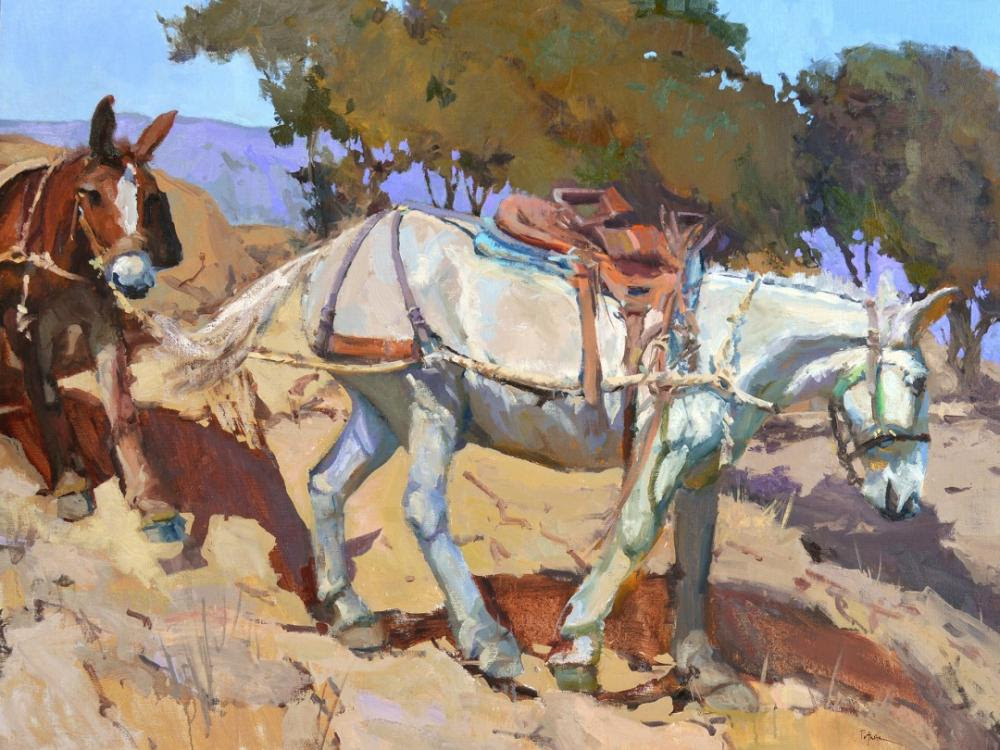Painting of two horses
