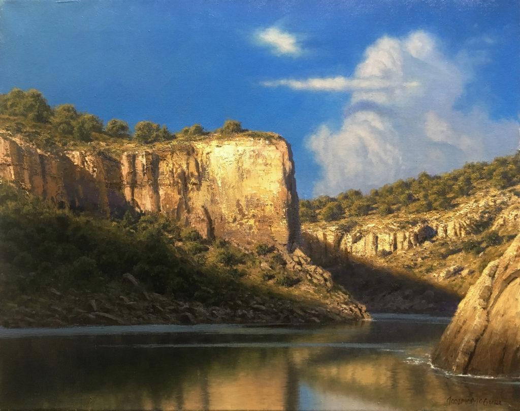 Oil landscape painting by Joe McGurl
