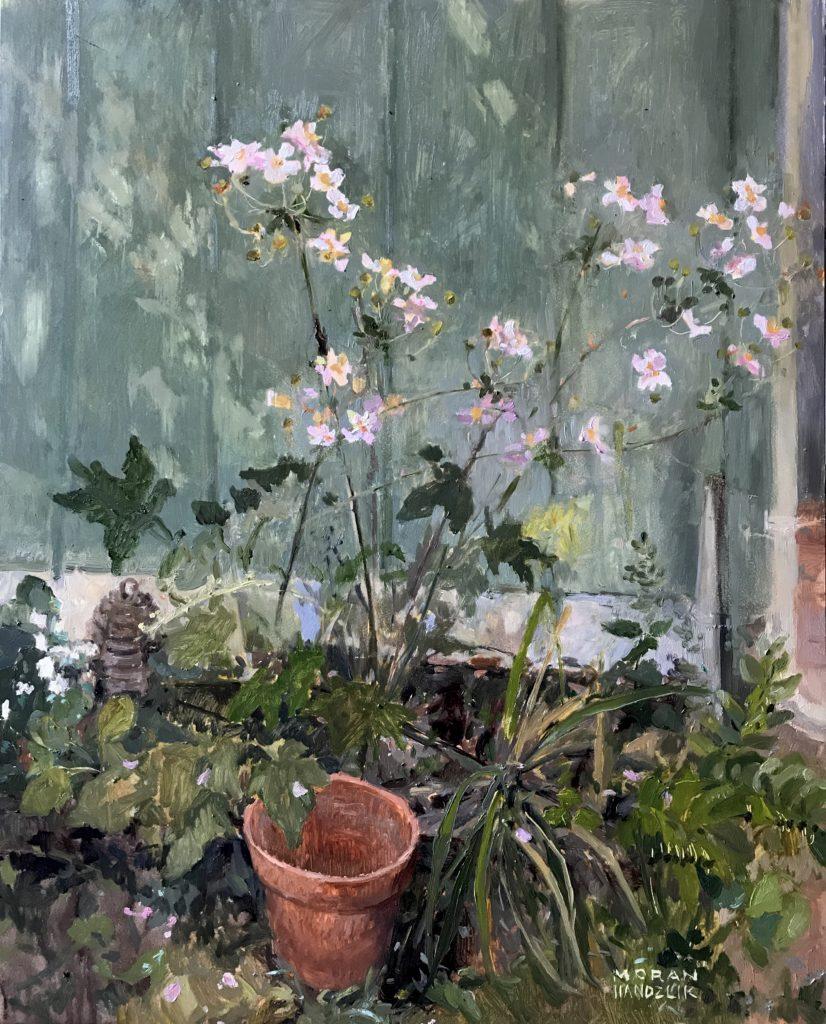 Oil painting of wildflowers