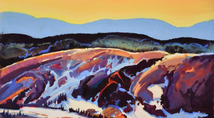 Casein painting by Stephen Quiller