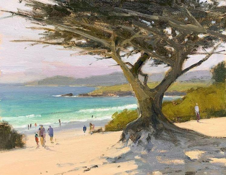 "Brian Blood, ""Afternoon at Carmel Beach,"" 11x14, oil"