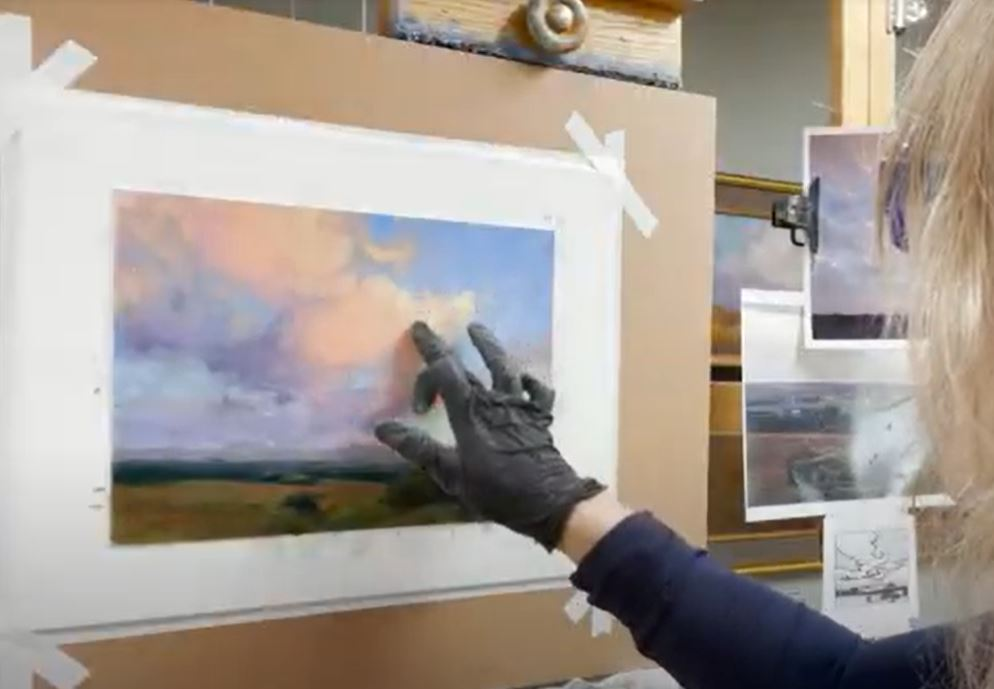 How to paint with pastels