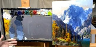 Color mixing for landscape painting